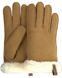 UGG Camel Handschoenen Shorty Glove W/trim - Naturel