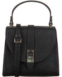 Guess - Schwarze Handtasche Nerea Top Handle Flap - Lyst