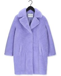 Stand Studio Lila Teddy Jas Camille Cocoon Coat Teddy - Paars