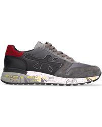 Premiata Grijze Lage Sneakers Mick - Grijs