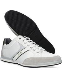 BOSS by Hugo Boss - Witte Lage Sneakers Saturn Lowp Mx - Lyst
