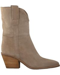 Notre-v - Taupe Stiefeletten Ah68 - Lyst