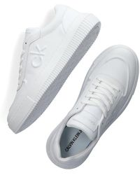 Calvin Klein Witte Lage Sneakers Chunky Sole Laceup Oxford
