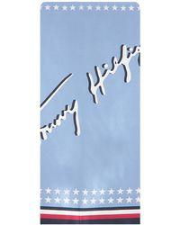 Tommy Hilfiger Blaue Schal Signature Bandana