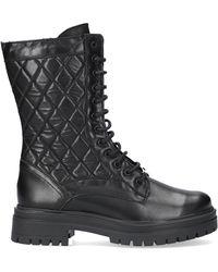 NIKKIE Zwarte Veterboots Pebbel Boots