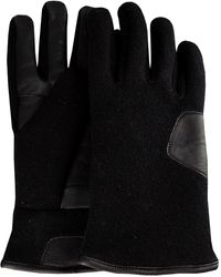 UGG Schwarze Handschuhe Fabric And Leather Glove