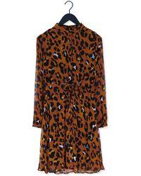 FABIENNE CHAPOT Cognac Mini Jurk Frida Cato Short Dress - Bruin