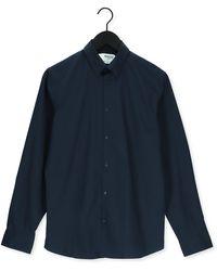 SELECTED Donkerblauwe Klassiek Overhemd Slimmichigan Shirt Ls B