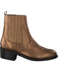 Omoda Gouden Chelsea Boots Lpmustang - Metallic