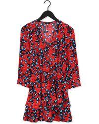 Colourful Rebel Multi Mini Jurk Ivy Roses Layer Mini Dress - Rood