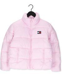 Tommy Hilfiger Roze Gewatteerde Jas Tjw Modern Puffer Jacket