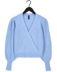 Y.A.S Lichtblauwe Trui Yasvista Ls Knit Pullover