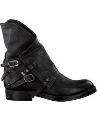 A.s.98 Schwarze Biker Boots 207235 19