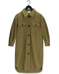 Goosecraft Groene Mantel Gc Gigi Solid Jacket