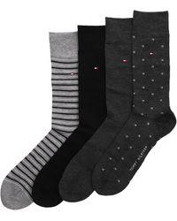 Tommy Hilfiger Schwarze Socken Th Men Sock 4p Tin Giftbox