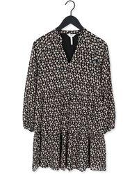 Object Zwarte Mini Jurk Mila Gia L/s Dress