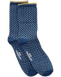 Becksöndergaard Blaue Socken Dina Small Dots