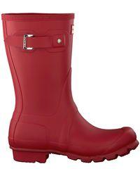 HUNTER Rode Regenlaarzen Womens Original Short - Rood