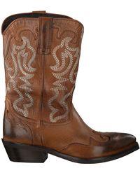 Omoda Cognacfarbene Cowboystiefel Tex503 - Braun