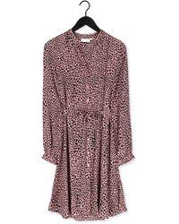 FABIENNE CHAPOT Roze Midi Jurk Dorien Frill Dress - Meerkleurig