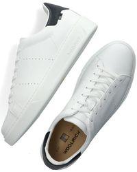 Woolrich Witte Lage Sneakers Sneaker Suola Scatola Man Calf