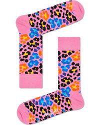 Happy Socks Rosane Socken Multi Leopard - Pink