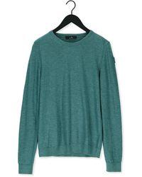 Vanguard Pullover R-neck Cotton Slub - Grün