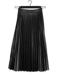 Simple Zwarte Midirok Woven Skirt
