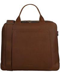 MYOMY Cognac Laptoptas My Locker Bag Business - Bruin