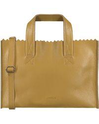 MYOMY Gele Handtas My Paper Bag Handbag Mini - Geel