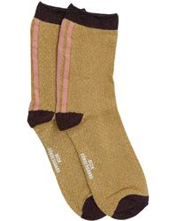Becksöndergaard Cognacfarbene Socken Shimmer PAsha Sock - Mehrfarbig