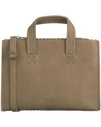 MYOMY Taupe Handtas My Paper Bag Handbag Mini - Meerkleurig