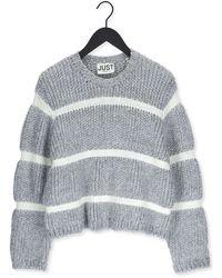 Just Female Pullover Roma Knit - Grau