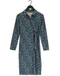 Juffrouw Jansen Blauwe Mini Jurk Dress Tight