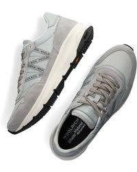 Woolrich Grijze Hoge Sneaker Trail Runner Man Camoscio - Grijs