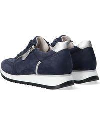 Gabor Blauwe Lage Sneakers 035