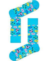 Happy Socks Blaue Socken Pool Party