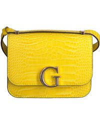 Guess - Gelbe Umhängetasche Corily Convertible Xbody Flap - Lyst