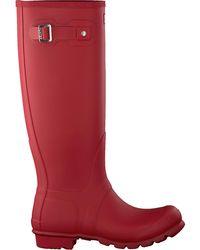 HUNTER Rode Regenlaarzen Womens Original Tall - Rood
