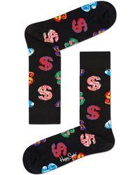 Happy Socks Socken Andy Warhol Dollar - Schwarz
