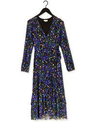 FABIENNE CHAPOT Donkerblauwe Midi Jurk Natasja Frill Dress