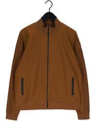 Vanguard Beige Jack Zip Jacket Cotton Polyamide - Bruin