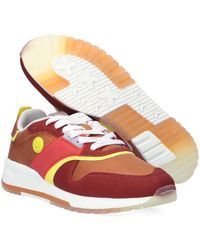 Scotch & Soda Bruine Lage Sneakers Vivi