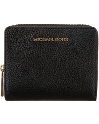 Michael Kors Zwarte Portemonnee Md Za Snap Wallet