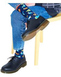 Happy Socks Blaue Socken Banana Bird