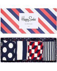 Happy Socks Multi Sokken Gift Pack - Blauw