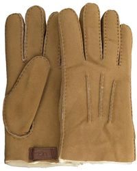 UGG Camel Handschoenen Contrast Sheepskin Glove - Naturel