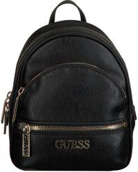 Guess - Zwarte Rugtas Manhattan Small Backpack - Lyst