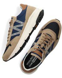 Woolrich Beige Hoge Sneaker Trail Runner Man Camoscio - Naturel