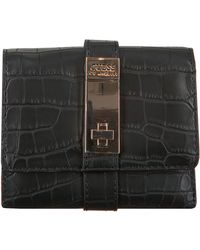 Guess Schwarze Portemonnaie Asher Slg Small Trifold